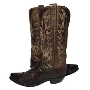 Lucchese 1883 Brown Leather Cowgirl Boots Size 7